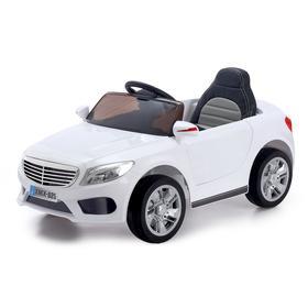 Электромобиль S CLASS, 2 мотора, EVA колёса, активная подвеска, кожаное сидение, цвет белый