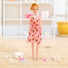 Doll model Rina in the dress with accessories, MIX