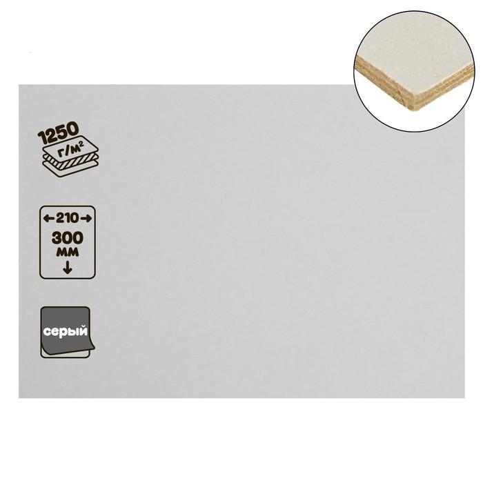 Картон переплетный 2.0 мм 21*30 см 1250 г/м² белый