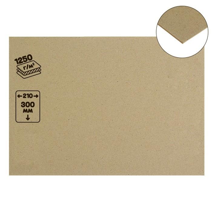 Картон переплетный 2.0 мм 21*30 см 1250 г/м² серый