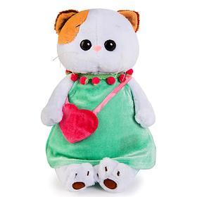 Мягкая игрушка «Кошечка Ли-Ли», в мятном платье с розовой сумочкой, 24 см