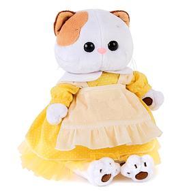 Мягкая игрушка «Кошечка Ли-Ли», в жёлтом платье с передником, 24 см