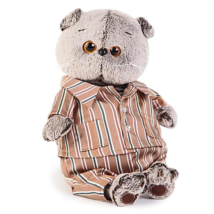 Мягкая игрушка «Басик», в шёлковой пижамке, 19 см