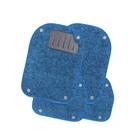 Вкладыши ковролиновые AUTOPROFI, для ковриков TER-500i, 4 предмета, синий
