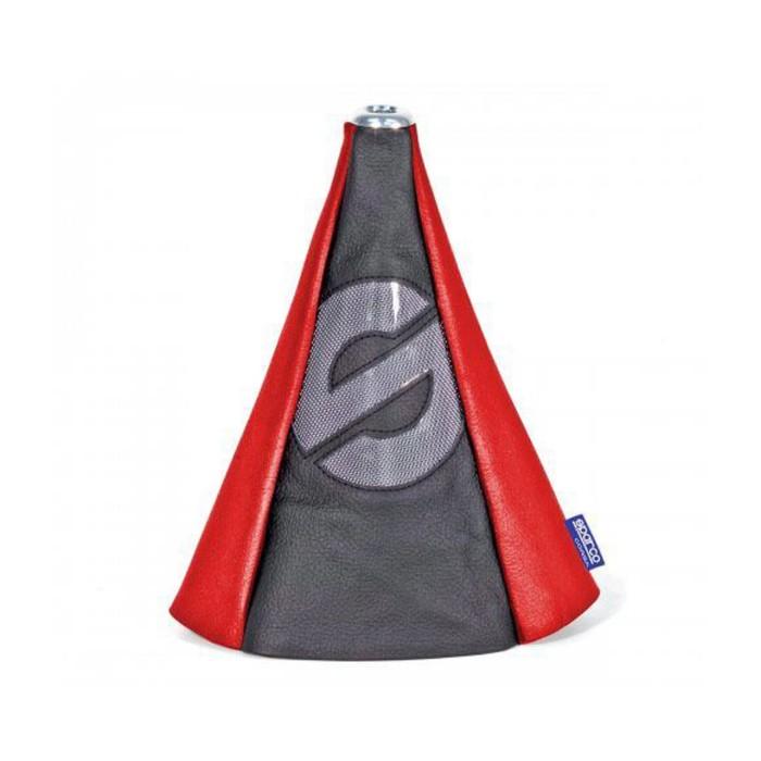 Чехол на рычаг механической КПП SPARCO, универсальный, чёрный/красный