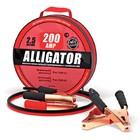 Провода прикуривания Аллигатор, 100% CCA, морозостойкие, 200 А, длина 2,5 м, брезент, сумка   322345