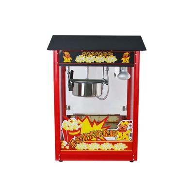 Аппарат для попкорна Gastrorag VBG-POP6A-B, с канапе, 230 г, 1 котел/2 мин, красный/черный