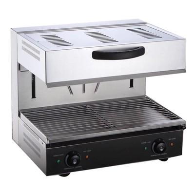 Гриль Gastrorag EB-EMH-600E, электрический, 2 зоны нагрева, 50-300°С, серебристый