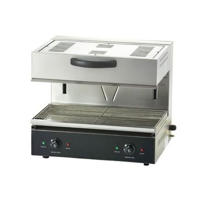 Гриль Gastrorag EB-EMH-600S, электрический, 2 зоны нагрева, 50-300°С, серебристый