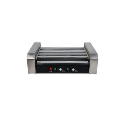 Гриль Gastrorag EL-R2-7, электрический, настольный, 7 роликов, 2 зоны нагрева, серебристый