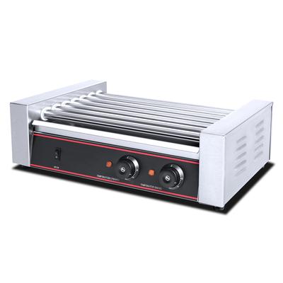 Гриль Gastrorag HHD-07, электрический, настольный, 7 роликов, 2 зоны нагрева, серебристый