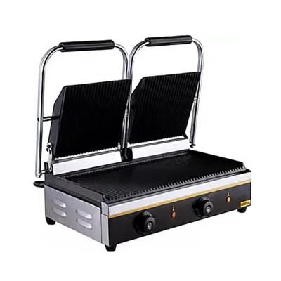 Гриль Gastrorag NPL-EGD20E, электрический, настольный, 50-300°С, серебристый