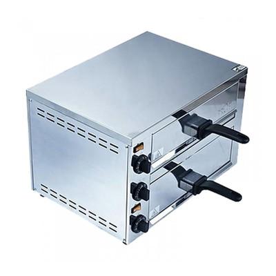Печь для пиццы Gastrorag EPZ-03, электрическая, 2 модуля, 2 нагрева, 60-300°С, серебристый