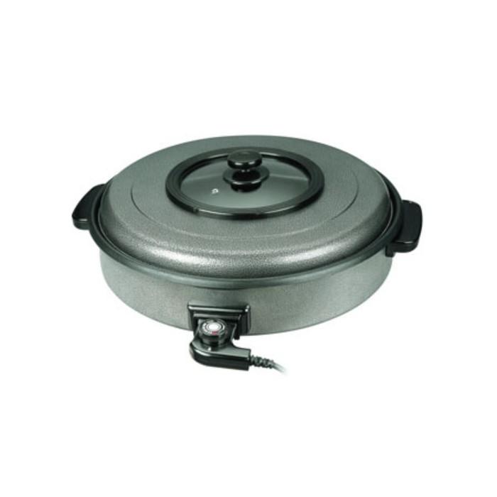Сковорода GASTRORAG CPP-55A, электрическая, 1600 Вт, d=55 см, антипр. покрытие, серебристая