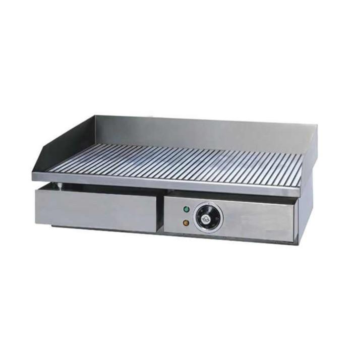 Сковорода GASTRORAG GH-EG-821E, электрическая, 1 зона нагрева, жиросборник, серебристая