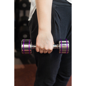 Dumbbell chrome with safety protector, 3 kg