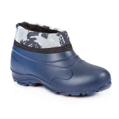 Галоши детские из ЭВА с надставкой и утеплителем арт. Д601-НМ, цвет синий, размер 35/36