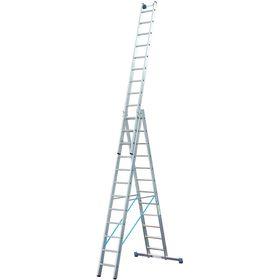 Лестница KRAUSE STABILO, трехсекционная, с траверсой, с доп. функцией, 14 ступеней