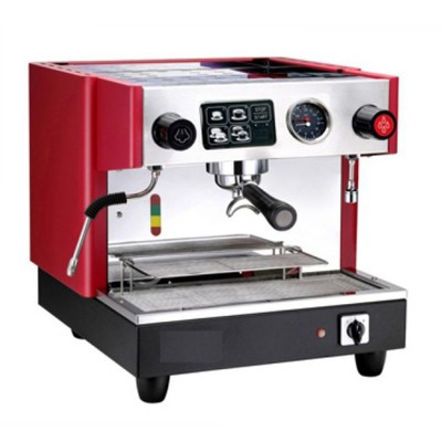 Coffee machine Gino GCM-311, 1 group,1 steam crane, 120 cups/h red/gray