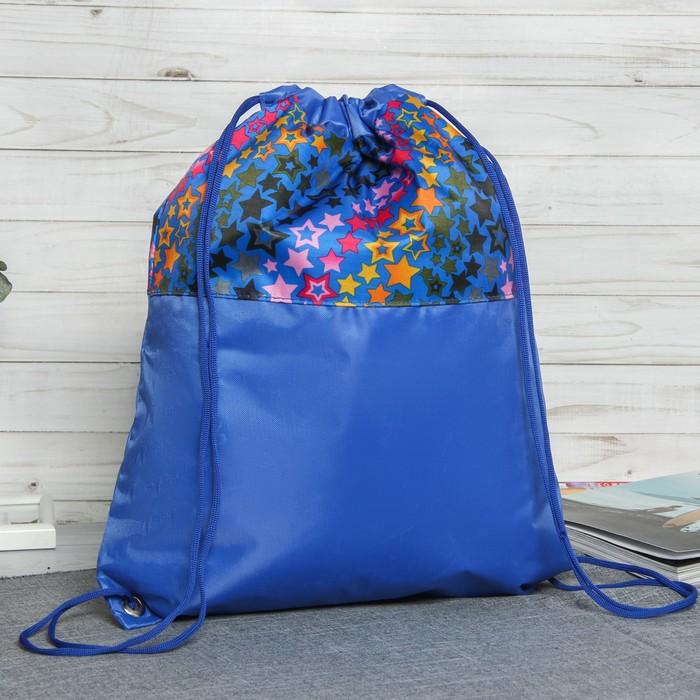 Мешок для обуви, цвет синий/разноцветный