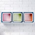 Набор настенных полок 1+3, разноцветные (большая 75*26см, 3 малых 20*20см)