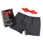 """Набор """"Истинный джентльмен"""" трусы и галстук-бабочка, размер 30"""