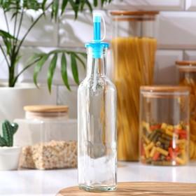 Бутыль для масла, уксуса «Классик» 270 мл, 5×5×25 см, крышка МИКС