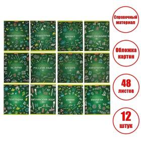 Комплект предметных тетрадей 48 листов «К доске!», 12 предметов, обложка мелованный картон, блок офсет