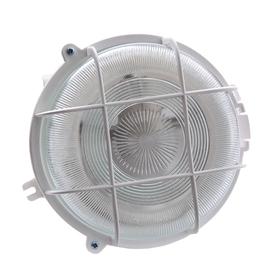 Светильник 'ЭЛЕТЕХ' Креа НПП 03-100-007, 60 Вт, IP44, круг, с решеткой белый Ош