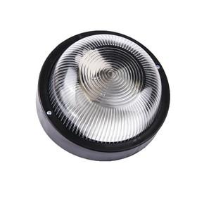 Светильник 'ЭЛЕТЕХ' Фарпласт НБО 23-60-003, 60 Вт, IP44, круг, корпус, черный Ош