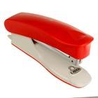 Степлер №10 до 15 листов Kangaro TRENDY 10, встроенный антистеплер, красный