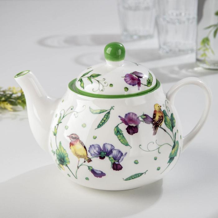 Чайник заварочный Доляна «Зелёный сад», 1 л - фото 874284