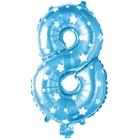 "Foil balloon 16"", figure 8, stars, color blue"