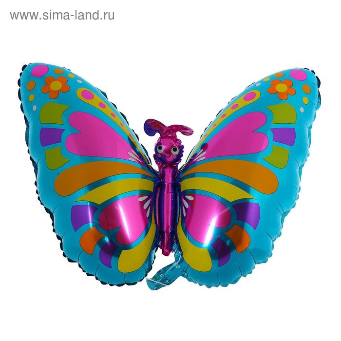 """Шар фольгированный """"Бабочка"""" 13"""", сердца, горошек"""