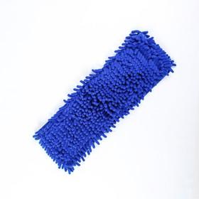 Насадка для плоской швабры, микрофибра 40х13 см букли, цвет МИКС