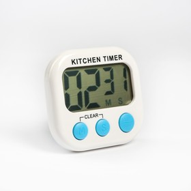 Electronic timer LuazON model LB-19, powered by 1 AAA not included, white