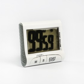 Electronic timer LuazON LTB-02, powered by 1 AAA not included, white