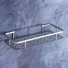 Полка для ванной комнаты, 31,5×13×5 см, алюминий