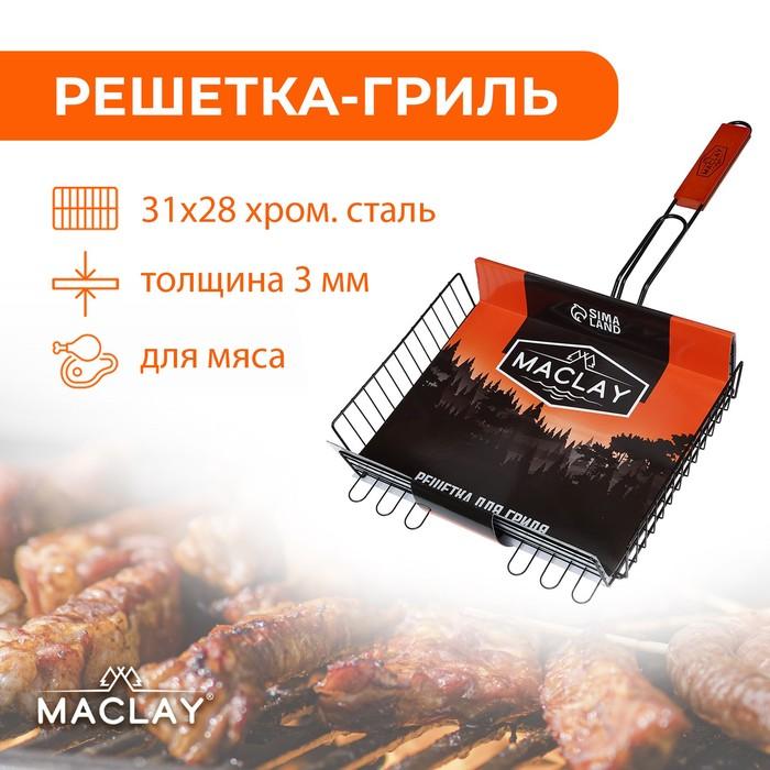 Решетка гриль для мяса Premium, глубокая антипригарная
