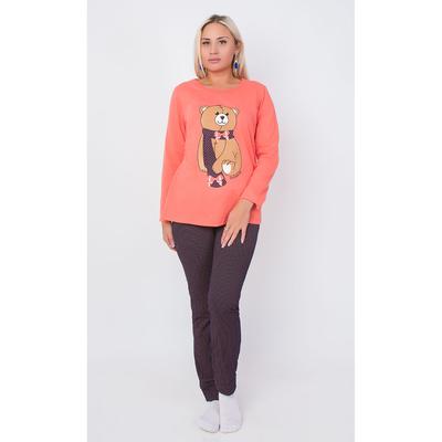 Комплект женский (джемпер, брюки) ТК-491 цвет коралловый, р-р 50