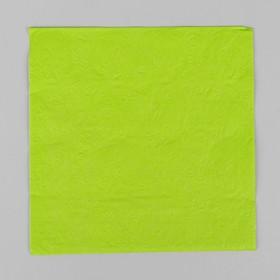 Napkins (set of 20 PCs) 33*33cm, plain, embossed pattern, color light green
