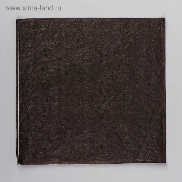 Napkins (set of 20 PCs) 33*33cm, plain, embossed pattern, color black