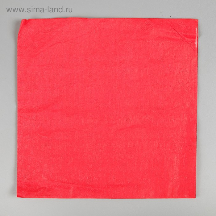Paper plain, embossed pattern, 20 piece set, red, 33*33 cm