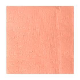 Салфетки бумажные, однотонные, выбит рисунок, 33х33 см, набор 20 шт., цвет бледно-розовый