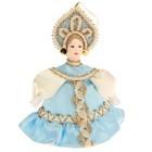 """Сувенирная кукла подвесная """"Девочка в платье с воланом"""" 12 см"""