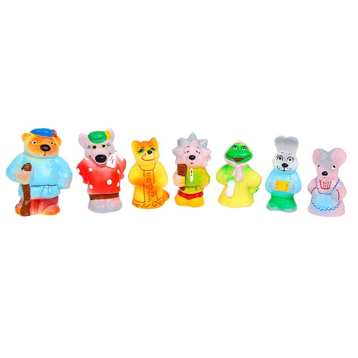 Набор резиновых игрушек «Теремок», 7 шт.