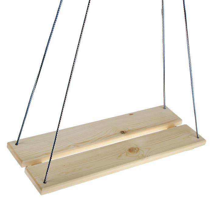 Качели подвесные, деревянные 60х22 см
