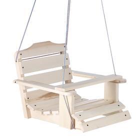 Качели детские подвесные, деревянные, сиденье 50×50см