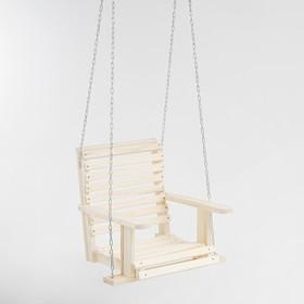 Качели подвесные, деревянные, сиденье 50×65см
