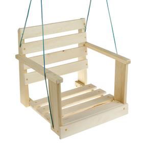 Качель  подвесная, деревянная 50х50х50см Ош